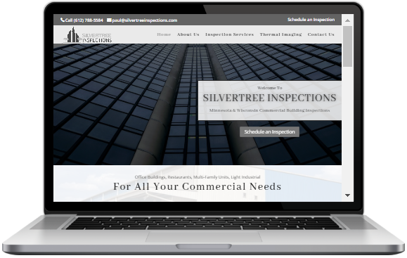 Website Design commercial building inspectors