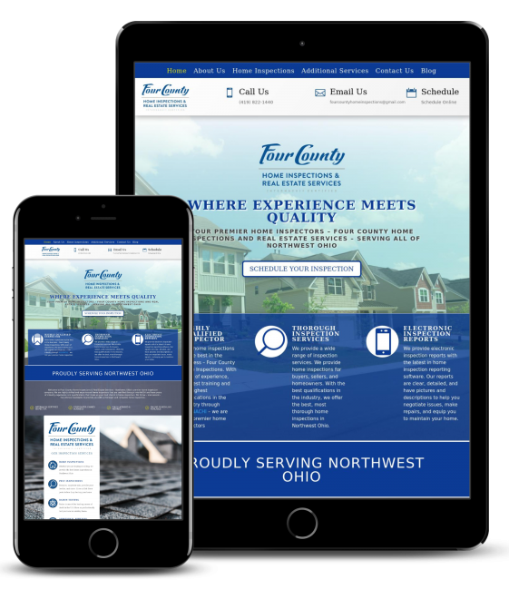 Home Inspection Website Design Ohio